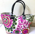 Trendy Suzani embroidery beautiful tote bags