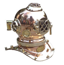 collectible steel Antique Copper Marine Mini Diving Helmet Desk Nautical