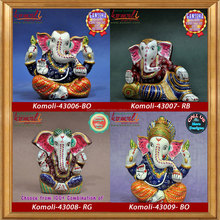 Ganesha idol of Various Size, Design & Color - Meenakari Ganesh Murti (Large size) - Metal Ganesha Statue metal ganesh murti