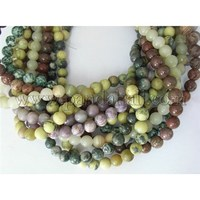 Round Gemstone Beads Mix, Assorted Colors, about 8mm in diameter, hole: 0.8mm; about 50pcs/strand, 16""