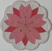 Np703 diseñador Sakura flor mantel