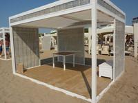 outdoor modular aluminium gazebo pergola pavilion with lateral mosquito tent wicker shield sun canopy cheap for outdoor garden