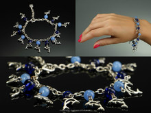 Bracelet with glass beads handmade