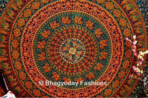 India tapiz 100% algodón hippy indio mandala tapiz arte decorativo ...