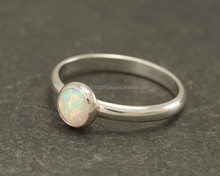 Indian Sterling Silver Jewelry, Latest Fashion Silver Jewellery Collection For Women , 925 Sterling Silver Opal Gemstone Ring