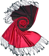 100% silk Scarf reversible, Double Colour Satin Weave scarf