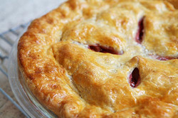 Low fat modified starch for pie crust