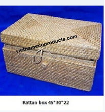 100% Handmade rattan hamper for storage, packaging picnic hamper made in Vietnam