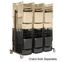 G_l_o_b_a_l Industrial Folding C_h_a_i_r Cart -- Double Sided, Double Tier