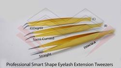 Attractive S Shape Titanium Gold Eyelash Extension Tweezers Marig Surgical Co