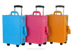 child cardboard suitcases kids luggage with wheels trolley for classical style vintage