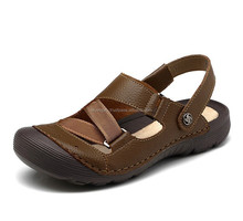 genuine leather sandals comfortable new style and design