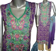 Pakistani Embroidered Arabic Lawn dresses for ladies,2015 lawn suits for girls