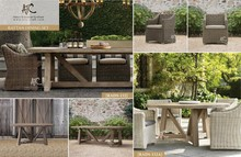 2015 Modern patio wicker dining table and chairs outdoor furniture