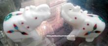 White Marble Inlay Elephant