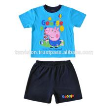 2 unids verano Printted George niños pijama Animal