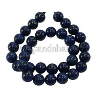 """Dyed Grade A Natural Lapis Lazuli Beads Strands, Round, about 12mm in diameter, hole: 1.5mm; about 33pcs/strand, 16"""" GSR12mmC123"""