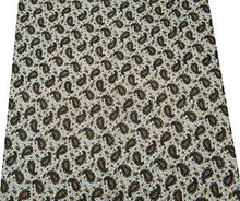 """Paisley Pattern Fabric 41"""" Wd White 100% Cotton Sewing Home Decor Projects By The Yard FBC4446"""