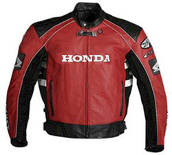Motorcycle racing Leather Jackets Red & Black