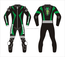 kawasakied Custom dashing design Leather Suit, Motorbike Good quality with cheep rates suits
