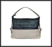 Python and calf leather combination lady bag for handbag import wholesale company