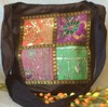 Dark Beauty Saree Patch Hand Bag