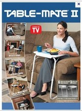 table mate portable adjustable folding table tv dinner