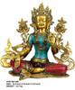 Multi Color Bronze Gautam Buddha sculpture