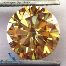 Real , Fancy color Synthetic Moissanite Gemstones Round Brilliant Cut For jewelry use ,.