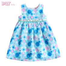 Breathable Spot Bow Waistband Party 2014 New Design Fashion Baby Dress