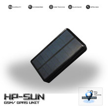 Solar powered GPS unit with GPRS/ GSM communication and magnetic attachable for