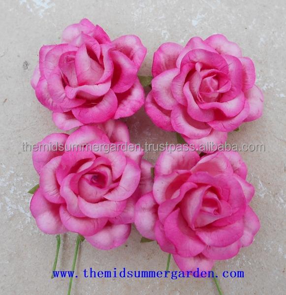 Handmade Paper Rose Bud Flower For Artcraftdiyhobbywedding And