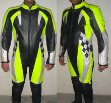 traje de cuero pista cuero Trajes Trajes de piel de la mujer traje de cuero de la motociclet