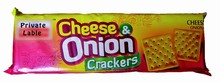 Cheese and onion Cracker biscuits/ Butter vegi Flavoured Crackers
