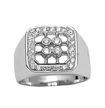 925 Sterling Silver Rings In White CZ silver jewelry wholesale ring