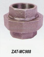 Hot Dipped Galvanized Flat Seat Union Malleable Iron Pipe Fittings ZAT-MC988