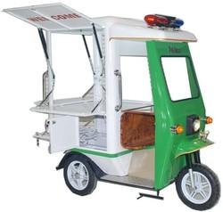 Relux TUK - TUK Counter Lock Pushcart , Steel Kiosk Cart or Iron Food Cart