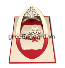Show flower arch greeting card