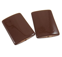 Clearance Acrylic Beads Rectangle painted coffee color 28.50x19.50x4.50mm Hole:Appr 2mm 225PCs/Bag Sold By Bag