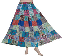 Patchwork Gypsy Skirts African Printed asymmetrical Wrap Skirts For Girls