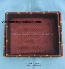 Vietnam quality box for storage, 100% bamboo handmade box