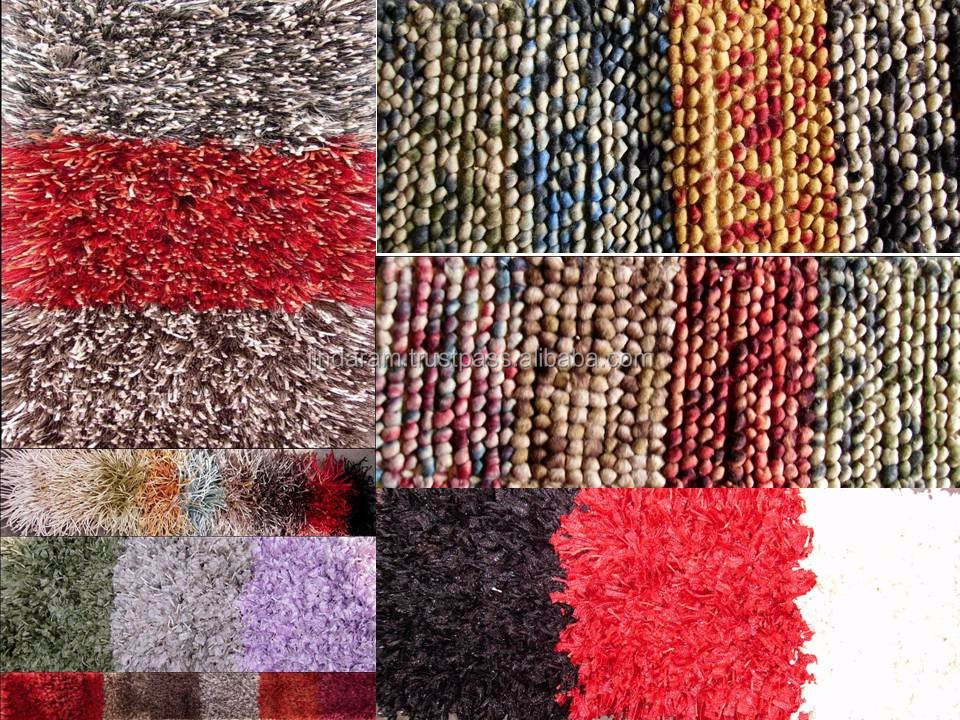 Modern shaggy woven and knotted pile acrylic carpets for wholesale.JPG