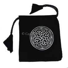 Celtic Chakra Symbol on Black Pouch: Buy Online Velvet Pouch : Online Top Seller velvet Pouch Bags