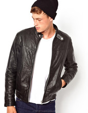 EX-1218 Men Leather Jacket