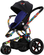 Quinny Britto Moodd Travel System in Red Includes Stroller & Mico Car Seat New