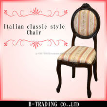 Italian classic style high quality chair with ball and claw feet