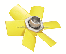 Fixed pitch airfoil profile axial flow fans for agricultural sprayers, diameter up to 900mm