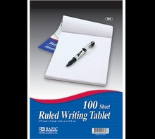 """BAZIC 100 Ct. 6"""" X 9"""" Ruled Writing Tablet"""