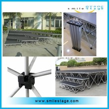 TUV certified aluminum stage frame/portable aluminum stage for event