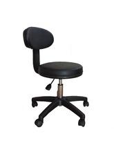 Barber Salon Chair PALMA 40 with backrest Styling stool